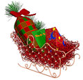 Christmas Sleigh with Gifts Stock Images
