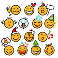 Christmas smileys Stock Image