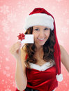Christmas Smiling Woman Stock Photos
