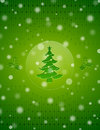 Christmas snow background with christmas tree and Stock Photography
