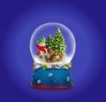 Christmas snow ball or glass globe.