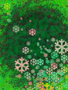 Christmas snow falling with bubble Royalty Free Stock Photos