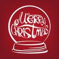 Christmas snow globe symbol drawn vector Royalty Free Stock Photo