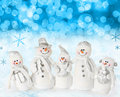 Christmas snow scene Royalty Free Stock Photos