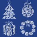 Christmas snow set vector Stock Photography