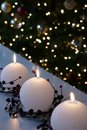 Christmas Snowball Candles Royalty Free Stock Photos