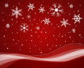 Christmas snowfall Royalty Free Stock Photography