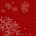 Christmas snowflake background Stock Photo