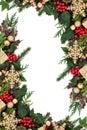 Christmas Snowflake Bauble Border Royalty Free Stock Photo