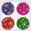 Christmas snowflake baubles Stock Photo