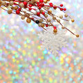Christmas snowflake and decoration Royalty Free Stock Photos