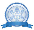 Christmas snowflake label Stock Photos