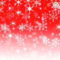 Christmas snowflake on red Stock Images