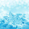 Christmas snowflakes Stock Photos