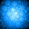 Christmas snowflakes background Royalty Free Stock Photos