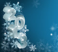 Christmas snowflakes background a blue with copyspace for text or message Stock Images