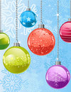 Christmas snowflakes and balls Royalty Free Stock Images