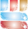 Christmas Snowflakes Banners Stock Photography