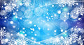 Christmas snowflakes blue background Royalty Free Stock Image