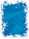 Christmas snowflakes border Royalty Free Stock Photo