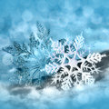 Christmas snowflakes decorations snow flakes on snow background for congratulation cards and design Royalty Free Stock Image