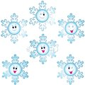 Christmas snowflakes icon set Royalty Free Stock Image