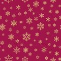 Christmas snowflakes seamless repeating pattern background. EPS 10
