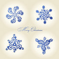 Christmas snowflakes  vintage decor Royalty Free Stock Images