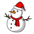 Christmas Snowman  cartoon. Stock Photography