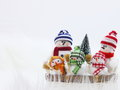 Christmas Snowman Family Card - Stock Photo Stock Photos