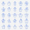 Christmas Snowman Icon set