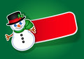 Christmas Snowman vector sticker / label Royalty Free Stock Image