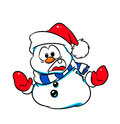 Christmas snowman warning stop illustrations low prices carefully winter Royalty Free Stock Images