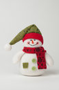 Christmas snowman a on a white background Royalty Free Stock Photos
