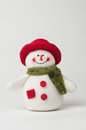 Christmas snowman on a white background Stock Photos