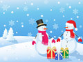 Christmas snowmans Stock Photography