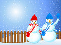 Christmas snowmans background Stock Images