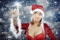 Christmas snowstorm Stock Photography