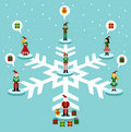 Christmas: social media network Royalty Free Stock Images