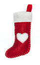 Christmas sock isolated on white background Stock Image