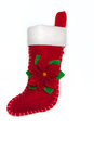 Christmas sock isolated on white background Stock Photo