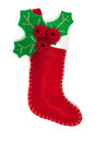 Christmas sock isolated on white background Royalty Free Stock Images