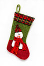 Christmas sock with santa claus Royalty Free Stock Image