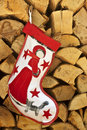 Christmas Sock with Snow-Princess Royalty Free Stock Images