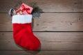 Christmas Sock On Wooden