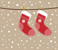 Christmas socks. Royalty Free Stock Image