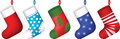 Christmas socks set Royalty Free Stock Image