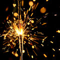 Christmas sparkler Royalty Free Stock Photo