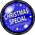 Christmas special button Royalty Free Stock Photo