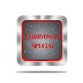 Christmas special button. Royalty Free Stock Photo